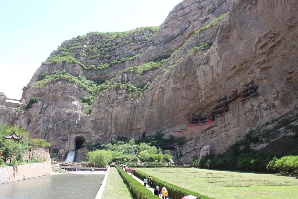 Blick auf das Hängende Kloster bei Datong