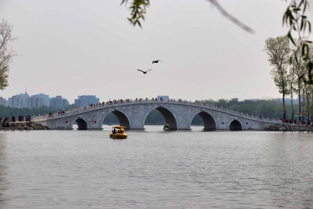 Bogenbrücke im Yuyuantan-Park