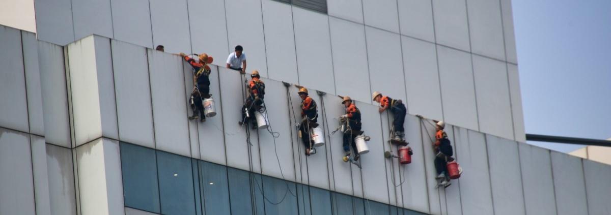 Fensterputzer in Peking