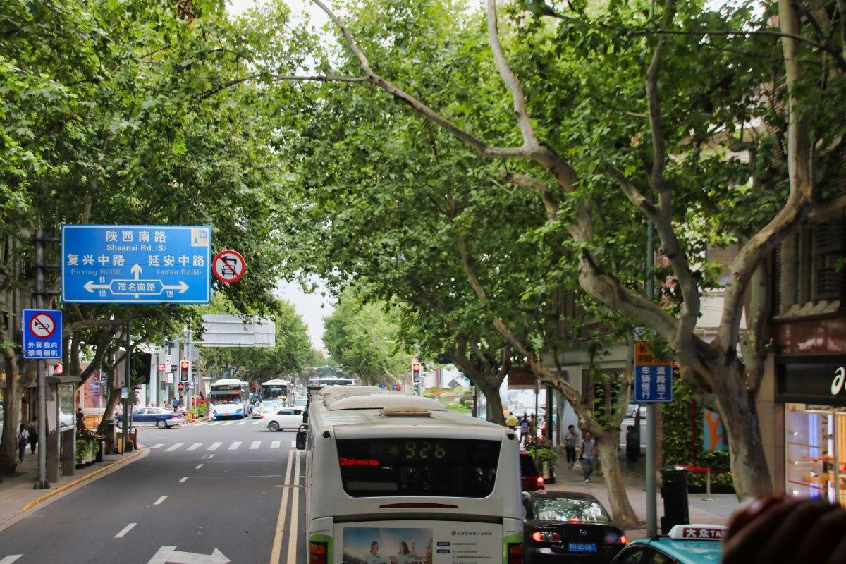 Mit dem Bus durch Shanghai