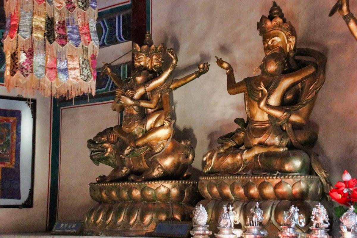 Buddha-Darstellung im Yong'an-Tempel