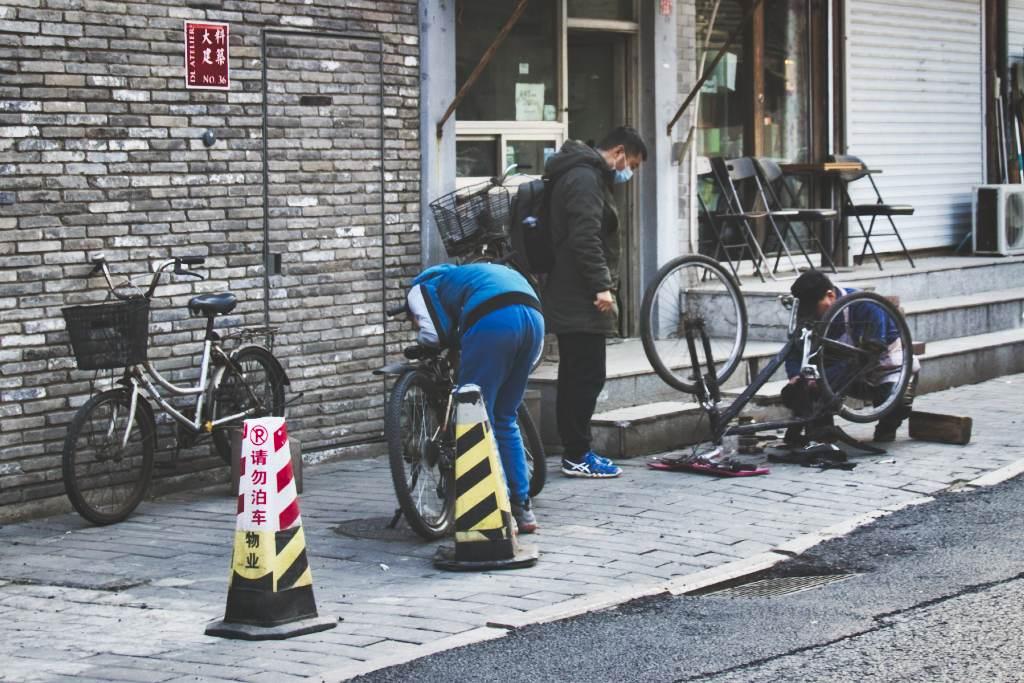 Fahrradwerkstatt im Hutong