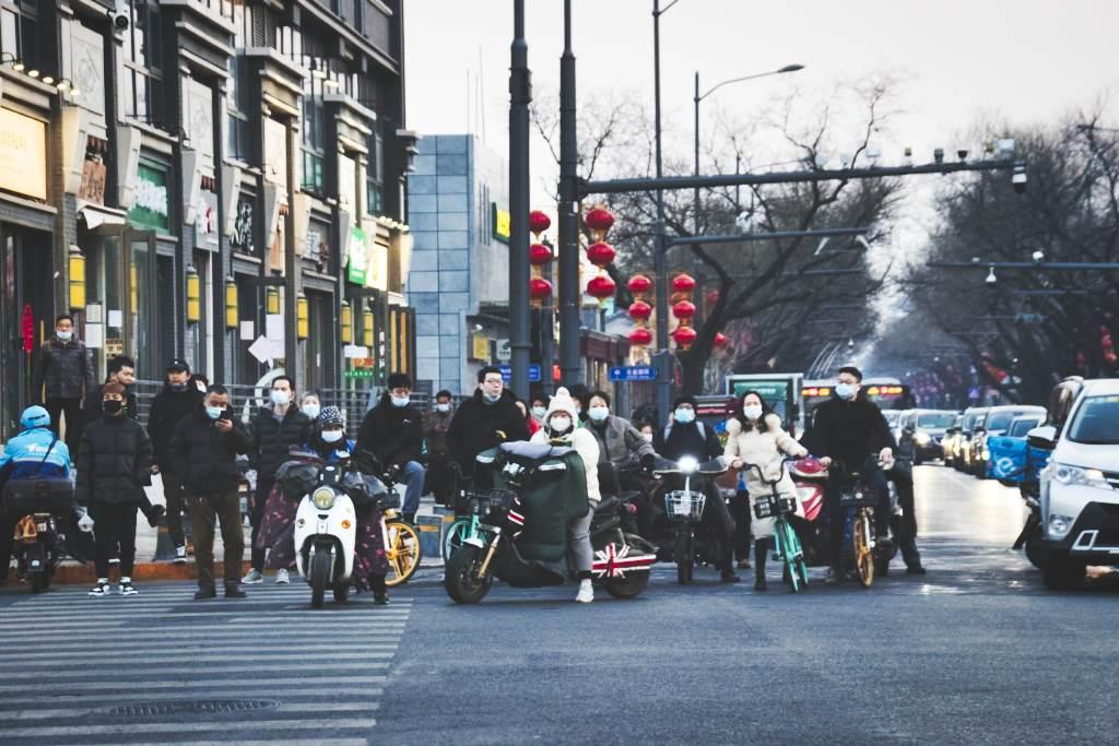 Getümmel an der Kreuzung Beixinqiao/Guijie