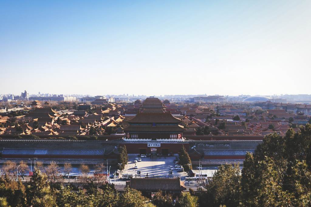 Die Verbotene Stadt vom Kohlehügel aus gesehen.