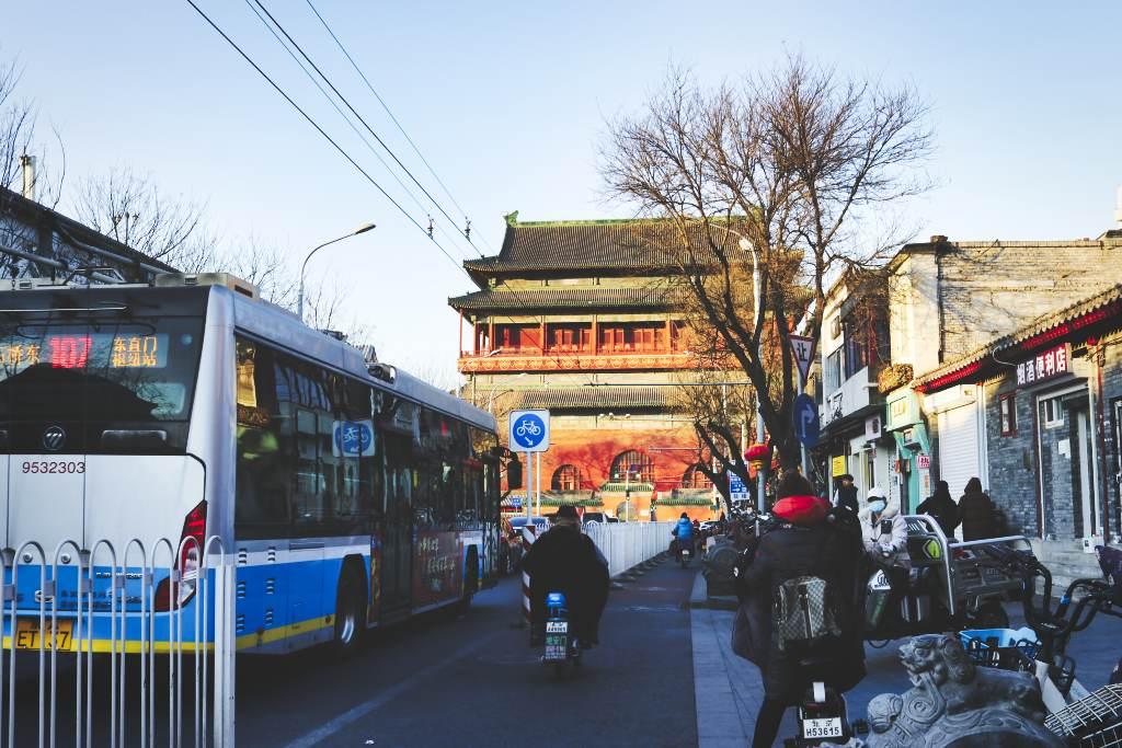 Trommelturm in Peking von Süden aus gesehen