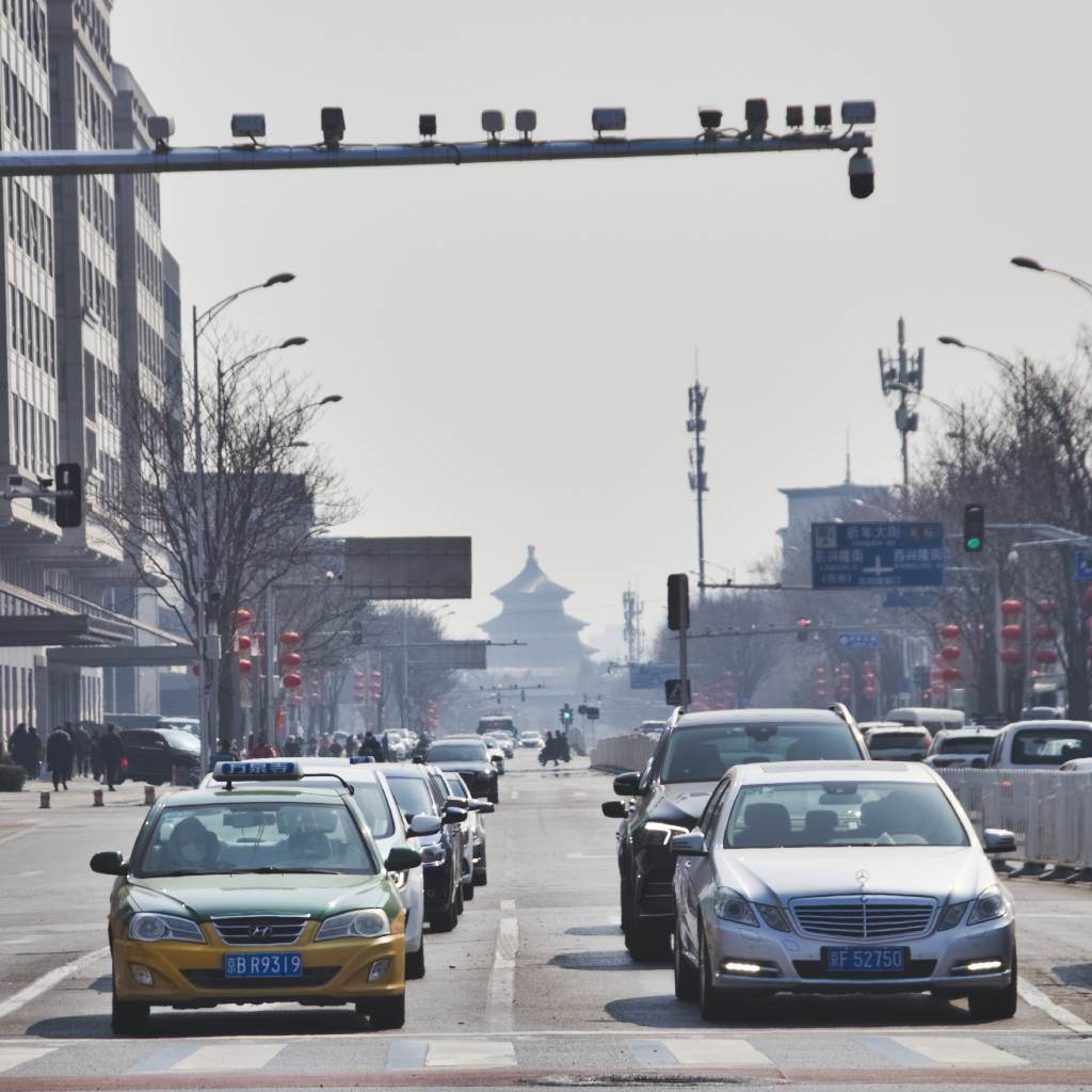 Qinian Street mit Blick auf Himmelstempel in Peking