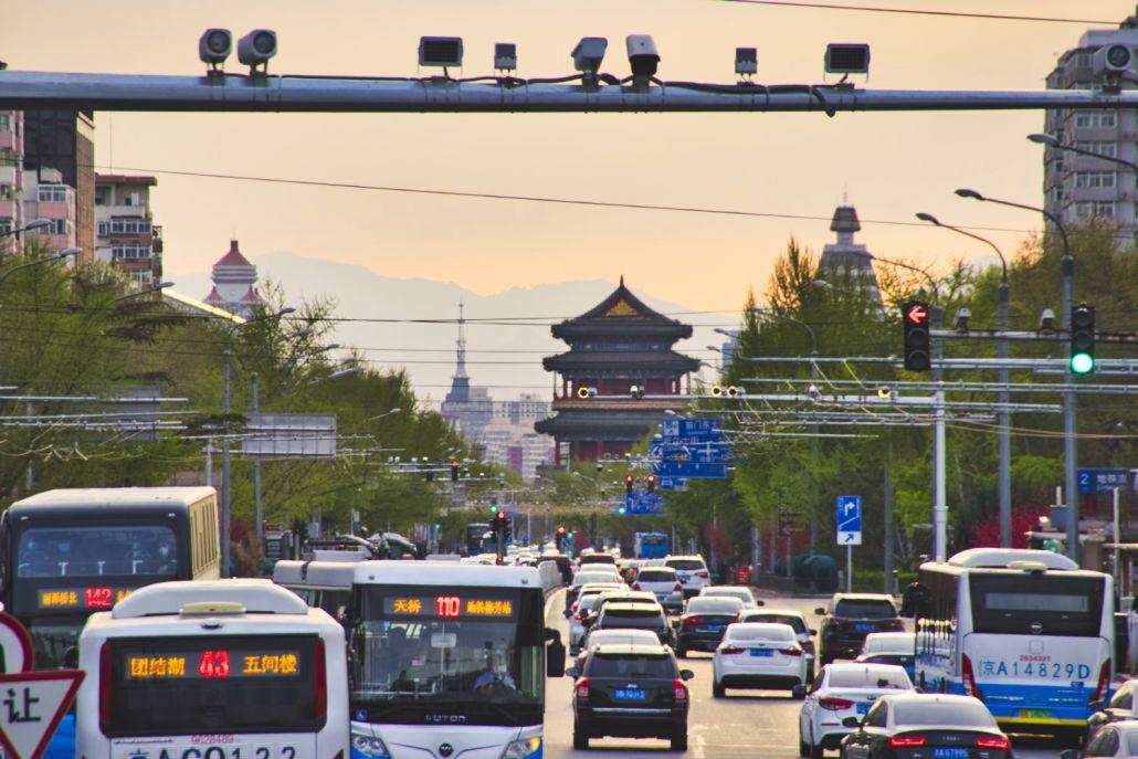 Aussicht in Richtung Zhengyangmen und Westberge