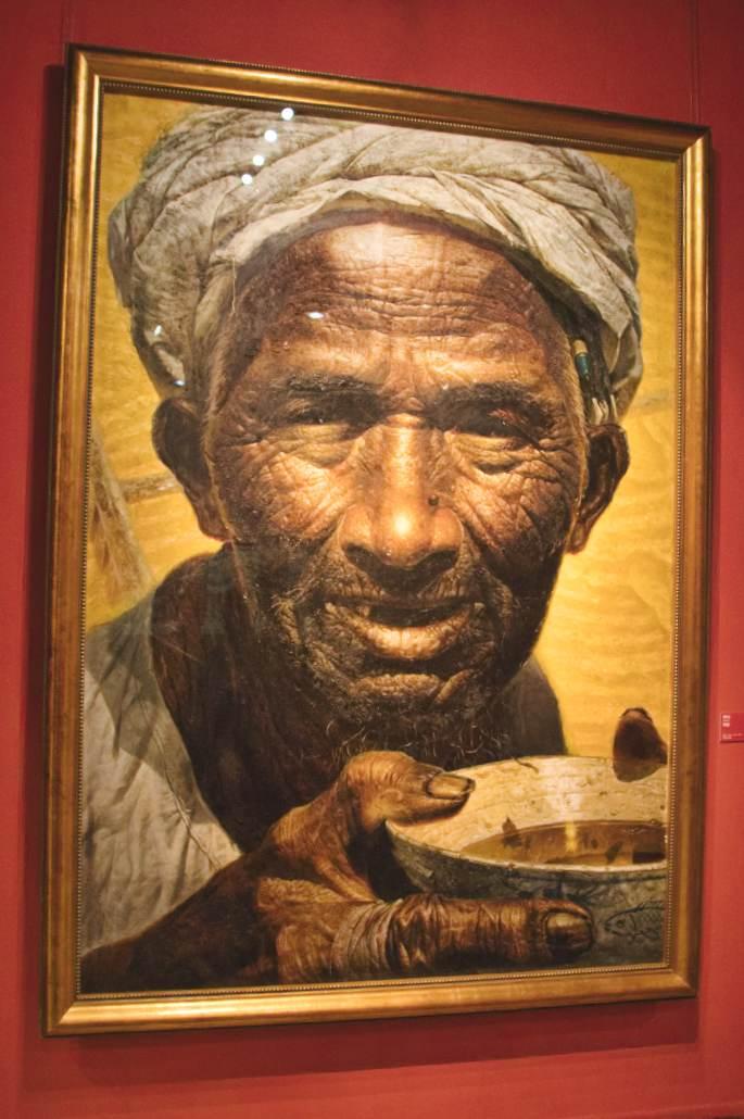 """Das Bild """"Father"""" von Luo Zhongli im National Art Museum in Peking"""
