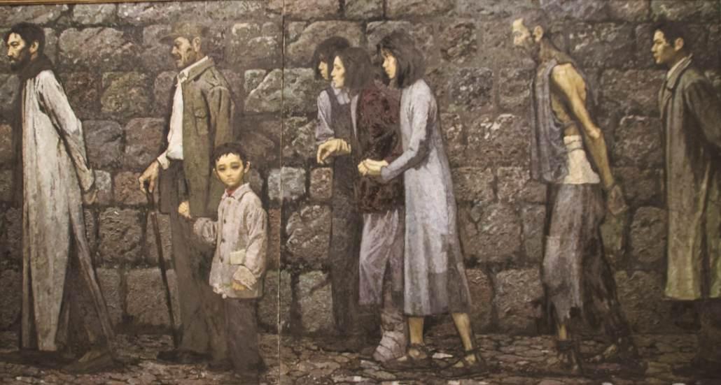 """Das Bild zeigt das Gemälde """"lù mànmàn"""" (Lange Straße)"""